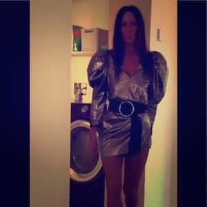 Zara puff sleeve dress